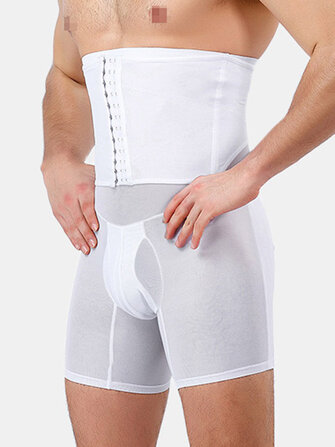 Buy Mens High Waist Slimming Underwear Tummy Control Thin Breathable Shapewear with Litecoins with Free Shipping on Gipsybee.com