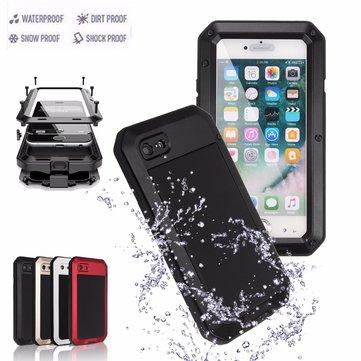 Aluminium Gel PE Støtdempende vanntett sak for iPhone 7 Plus/8 Plus