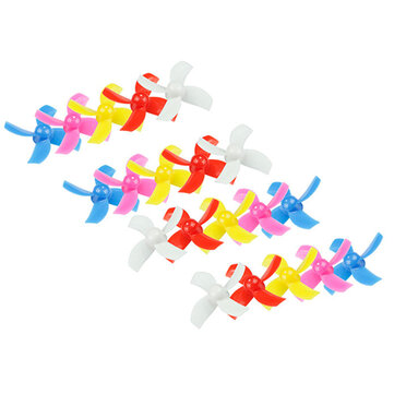 20PCS 31mm 4-blade Propeller for Kingkong/LDARC TINY 6 6X Tiny Whoop Eachine E010 E010C E010S Blade Inductrix RC Quadcopter