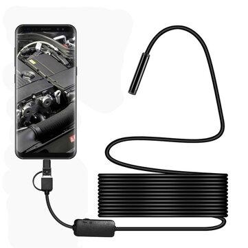 LED USB Type-C HD 1200P Camera kiểm tra ống kính 8 mm IP68 với cáp 2 / 3.5 / 5 / 10M
