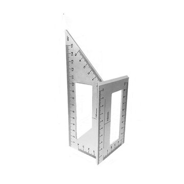How can I buy Multifunctional 45 90 Degree Square Angle Ruler Gauge Measuring Woodworking Tool with Bitcoin
