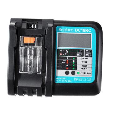 Bộ sạc pin lithium-ion nhanh DC18RC BL1830 BL1840 BL1850 cho pin 14,4V 18V Makita