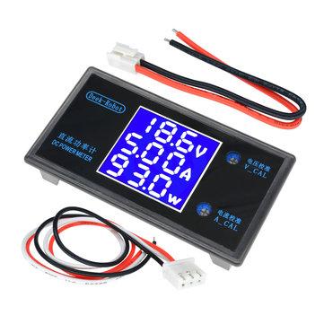 DC 50V 5A LCD Display Digital Voltmeter Ammeter DC 12V Wattmeter Voltage Current Power Meter Detector Tester Monitor 250W