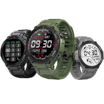 [bluetooth Call] BlitzWolf® BW_AT2C 400mAh Battery 24h Heart Rate Monitor Blood Pressure Oxygen Measure Wristband Music Playback Custom Watch Faces Sport Style Smart Watch