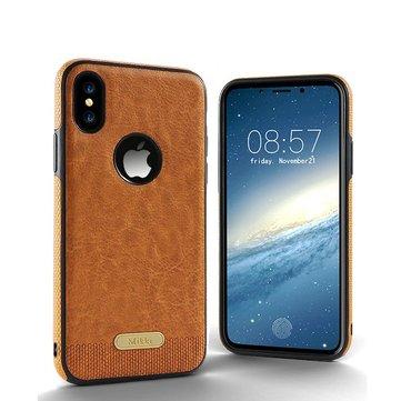 Business Lær Mønster Soft TPU Case For iPhone X/8/8 Plus/7/7 Plus/6s/6s Plus/6/6 Plus