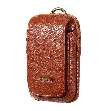 メンズPUレザーアウトドアスポーツカジュアル携帯電話バッグ携帯電話ポーチ5.5インチ電話