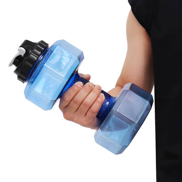 2.2L Large Dumbbell Shape Water Cup Kettle Portable Sport Gym Fitness Bottle for sale in Bitcoin, Litecoin, Ethereum, Bitcoin Cash with the best price and Free Shipping on Gipsybee.com