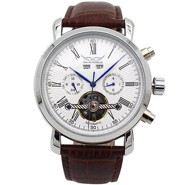 JARAGAR A540 לוח שנה מלא אוטומטי מכני שעונים סגנון עסקי גברים שעונים
