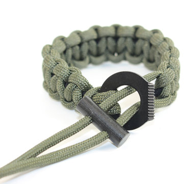 IPRee® Outdoor EDC Sobrevivência Pulseira Paracord Flintstone Emergency Safety Tool Kits