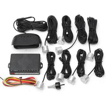 Auto LCD Coche Estacionamiento 8 Sensores Rear Vista Frontal Reverse Backup Radar System Kit