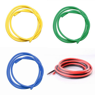 5PCS 1M 30AWG Silicone Wire SR Wire Red Black Yellow Blue Green 30 AWG