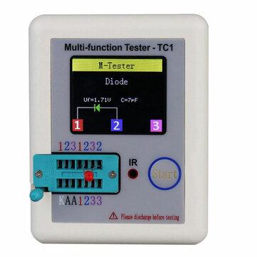 DANIU™ LCR-TC1 1.8Pulgadas Colorida Pantalla Multi-funcional TFT Probador de Transistor de Retroiluminación para Diode Triode Condensador Resistor Transistor LCR ESR NPN PNP MOSFET