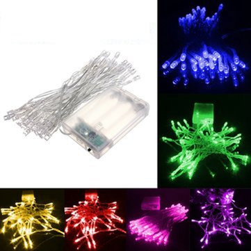 4M 40 LED Battery Powered Christmas Wedding Party String Fairy Light