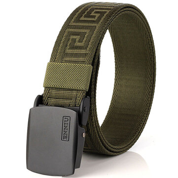 125CM Men Automatic Buckle Military Nylon Belt Army Tactical Durable Waistband