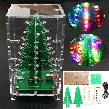 Cây thông Giáng sinh Geekcreit® RGB Colorful LED Flash Bộ có nắp trong suốt Bộ dụng cụ điện tử DIY
