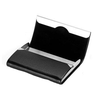 Porta carte di credito in acciaio inossidabile IPRee® PU Porta carte di credito portatile per documenti di identificazione Scatola