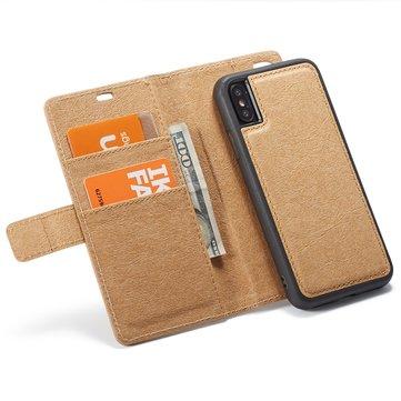 Vanntett Kraft papirmagnetisk avtakbar lommebok til iPhone XS / X / 8/8 Plus/7/7 Plus / 6s / 6s Plus/6/6 Plus