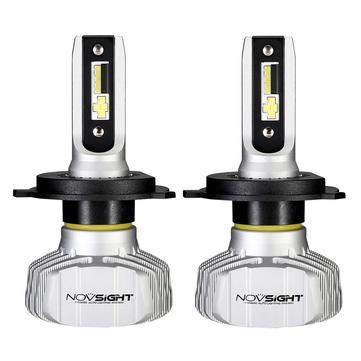 NovSight A500-N15 50W 10000LM Đèn pha LED Xe Bóng đèn Đèn sương mù H1 H3 H4 H7 H11 9005 9006 6500K
