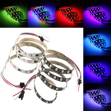 1M 11.5W DC 12V WS2811 60 SMD 5050 LED RGB Changeable Flexible Strip Light Individually addressable