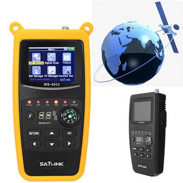 Satlink WS-6933 DVB-S2 FTA Digital Satellite Finder Meter LCD Flashlight