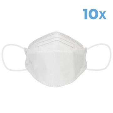 10Pcs KN95 Masks 4-Layer Self-priming Filter Dustproof Face Mask Breathable Dust Filter Masks