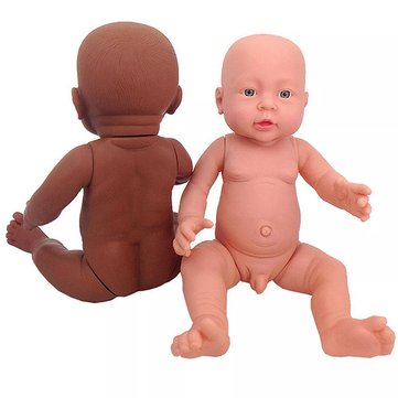 Unpainted Blank Doll Mold Full Silicone Vinyl Reborn Doll Lifelike Take Care Training Figure Toys