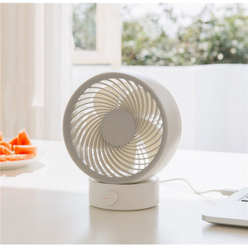 3life 330 Portable Mini Air Circulation Fan Rotating Desktop Fan Strong Wind USB Charging Low Noise and Comfortable from XIAOMI  YOUPIN