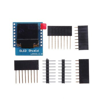 0.66 Inch OLED Display Shield For D1 Mini 64X48 IIC I2C Geekcreit for Arduino - products that work with official Arduino boards