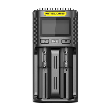NITECORE UMS2 USB Battery Charger LCD Screen Smart Charger For 26650 18650 21700 16340 18350