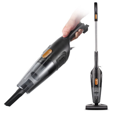 Deerma DX115C Household Vacuum Cleaner Mini Handheld Pushrod Cleaner Strong Suction Low Noise