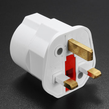 Eropa 2 Pin ke UK 3 Pin Plug Adapter EU Schuko Travel Induk Adapter Max 3250W
