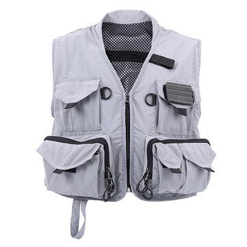 MAXCATCH Multifungsi Fly Fishing Vest Hyfly Fishing Suit Lambang Luar Ruangan Untuk Pria