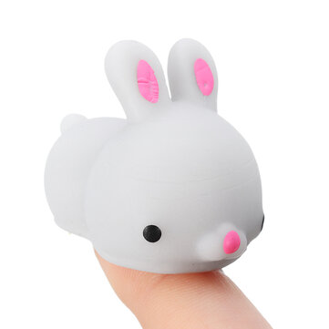 Gray Bunny Rabbit Squishy Squeeze Cute Healing Toy Colección linda Stress Reliever Gift Decor