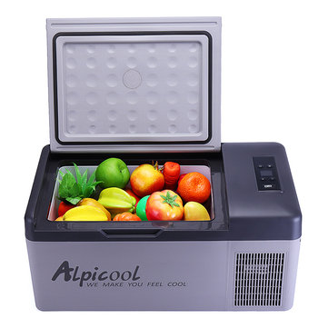 Alpicool 15L 12/24V Portable Freezer Camping Car Boating Caravan Bar Mini Fridges by APP Car Refrigerator