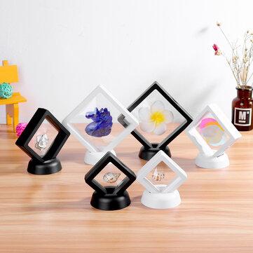 Cuadrado Soporte para marco flotante para álbum 3D Moneda Caja Joyería Caja Pantalla Vitrina con soporte