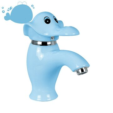 15% OFF For Ceramic Kindergarten Cartoon Elephant Faucet Color Children's Wash Basin Hot And Cold Faucet