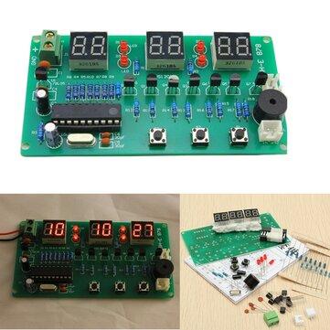 5V-12V AT89C2051 Multifunction Six Digital LED DIY Electronic Clock Kit
