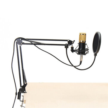 $38.99 for BM800 Condenser Microphone Dynamic System Kit Shock Mount Boom Stand Studio Pro