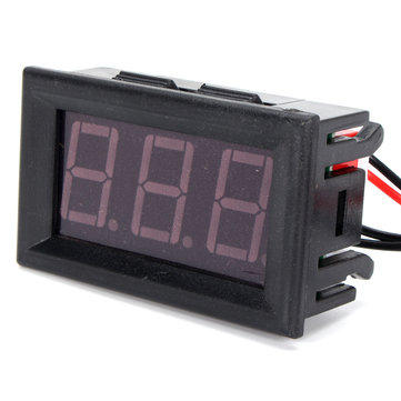 12 V Merah Tampilan Digital Termometer LED Tahan Air Sensor Suhu Uji Meter