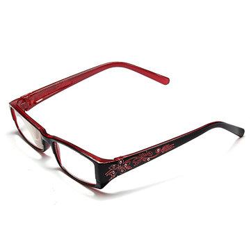 Merah Perempuan Berlian Bunga Bingkai Kacamata Baca Presbyopic Kacamata 1.0 1.5 2.0 2.5 3.0 3.5 4.0