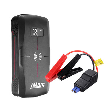 iMars J03 Portable Car Jump Starter 16000mAh 1300A Emergency Battery Booster 10W Wireless Charging QC3.0 Power Bank Waterproof with LED Flashlight