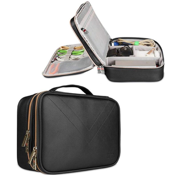 BUBM Large Size Double Layers Large Capacity Waterproof Digital Accessory Storage Bag iPad Pouch
