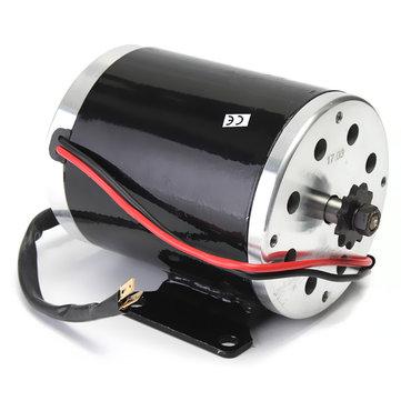 24V 500W 28.5A Elektrisk Borstad Motor 2500 Rpm med konsol För Scooter E-Bike Mini Bike Go Kart