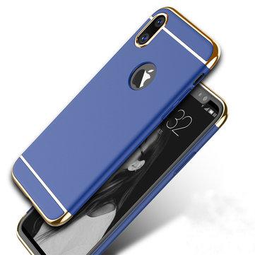 3 i 1 Plating Anti Fingeravtrykk Akryl PC Veske Deksel til iPhone X