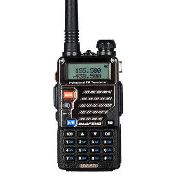BAOFENG UV-5R 3rd Gen 5W 128 Canais 400-480MHz Tela de retroiluminação dupla Banda Bidirecional Walkie Talkie Dirigindo o interfone civil