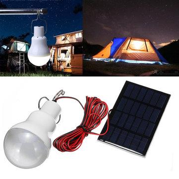 15W / 20Wソーラーパネル電源LED電球ライトポータブル屋外キャンプ緊急ランプ