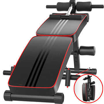 Multifunctional Sit up Bench Foldable Abdominal Machine 10 Gear Adjustable Trainer Board with Pillow Home Gym Fitness Equipment