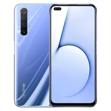 Realme X50 5G CN Version 6.57 inch FHD+ 120Hz Refresh Rate NFC Android 10.0 4200mAh 30W VOOC 4.0 64MP Quad Rear Cameras 6GB 64GB Snapdragon 765G Octa Core Smartphone