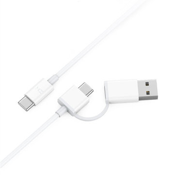 Original ZMI AL311 2 in 1 PD QC Type-C to Type-C C to USB Fast Charging Data Cable for Mobile Phone from Eco-System