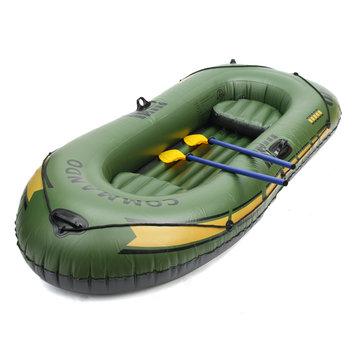 2人カヌーのラフティング釣りカヤックのための3人のPVCインフレータブルボートゴムディンギー
